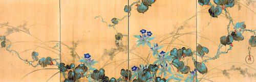 Sakai Hoitsu. Miho museum. Autumn grasses and flowers.