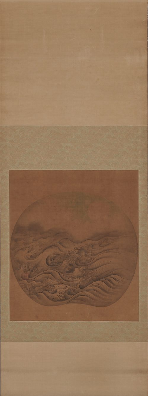"""Rough Waves"". 17th/18th c. Anonymous. Japanese wave painting. Ma Yuan (1160-1713). Full image."