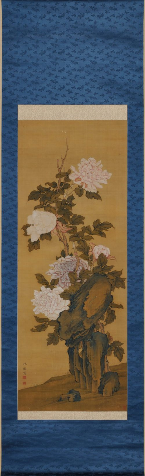 Hayashi Chisen, Japanese Nanpinha scroll painting, full scroll image.