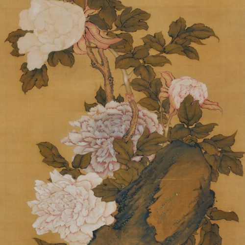 Hayashi Chisen, Japanese Nanpinha scroll painting, full image.