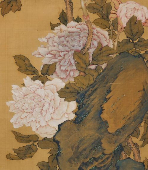 Hayashi Chisen, Japanese Nanpinha scroll painting, image of detail.