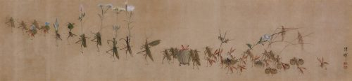 Yokoyama Seiki (1792-1864). Insects in parody of a daimyo procession. Image of entire painting.