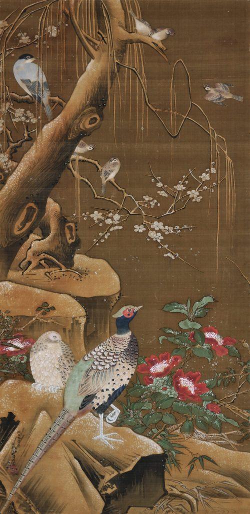 Ogata Tomin (1839 -1895). Manner of Lu Ji 呂紀. Birds and flowers.