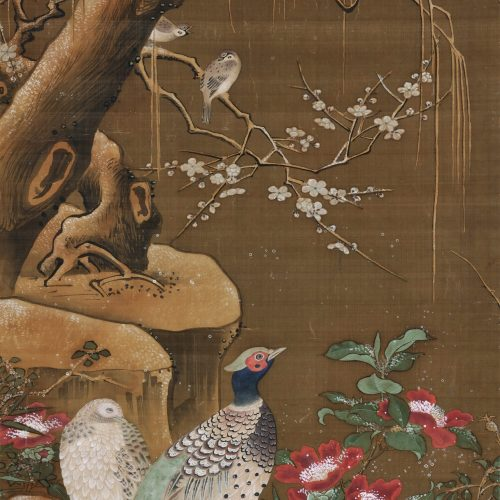 Ogata Tomin (1839 -1895). Manner of Lu Ji 呂紀. Birds and flowers.